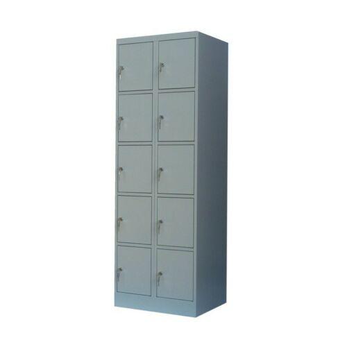 K. SZ. 2/10 500mm mély rekeszes 2 oszlopos értékmegőrző szekrény (Standard)
