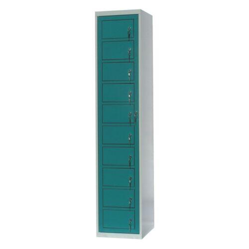 Mosodai kiadószekrény 1 oszlopos 10 ajtós