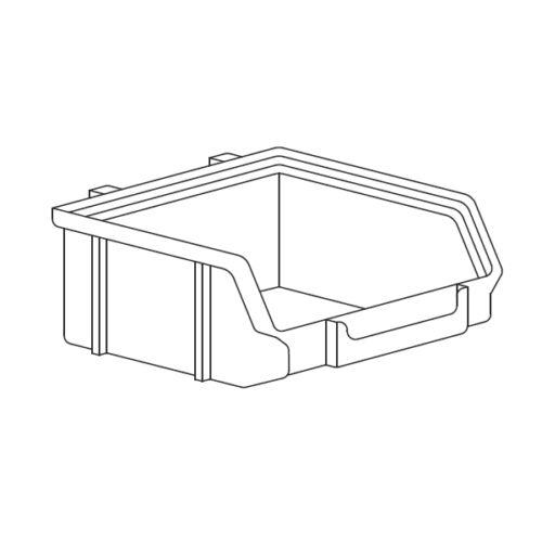 Műanyag doboz perforált falhoz 135x135