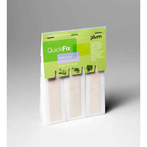 QuickFix Long 30db/csomag hosszú 12x2cm/db rugalmas sebtapasz, 6csomag