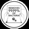 Elpusztítja a baktériumok 99%-át