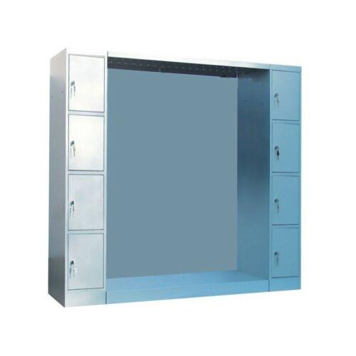 K. SZ. hátfalas gardróbszekrény 8 ajtós értékmegőrző oszloppal, 1200 mm széles