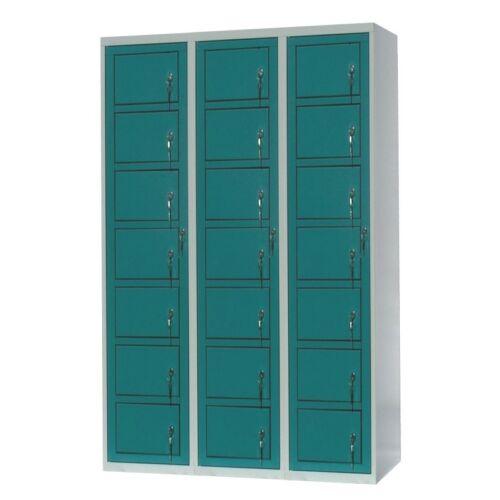 Mosodai kiadószekrény 3 oszlopos 21 ajtós