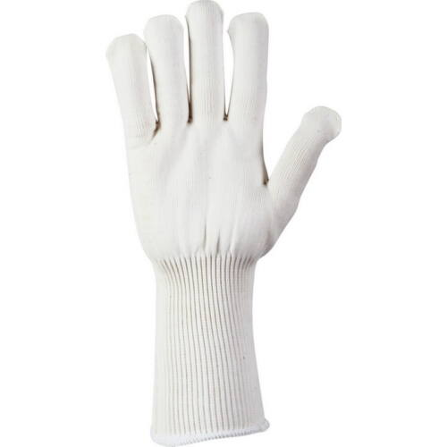 Hosszú Perlon kesztyű, fehér (1pár), L méret