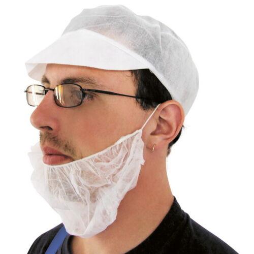 Élelmiszeripari Gumis szakállvédő, fehér (1db)